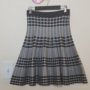 Black & White Checkered Fate A line skirt